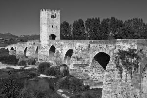 Medieval Bridge in Burgos