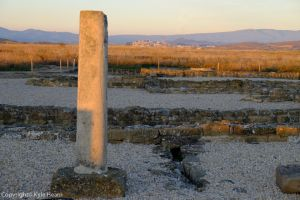 Roman city of Andelos in Navarra